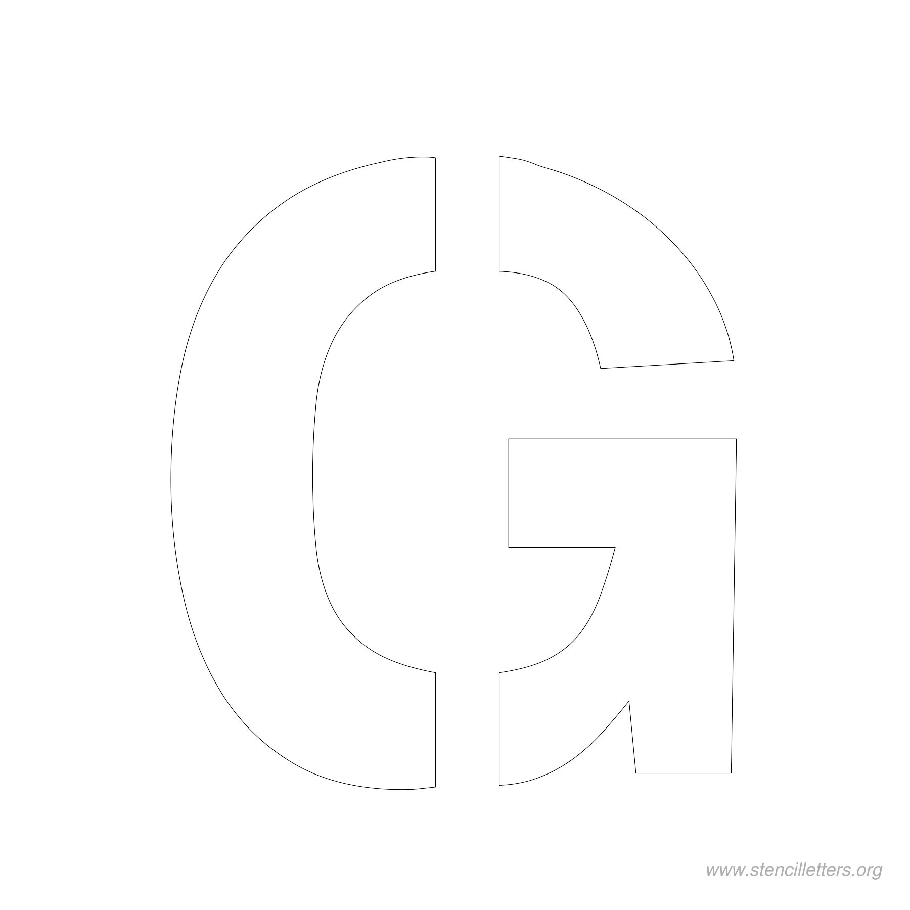 4inch-stencil-letter-g  Inch Printable Letter Y Stencil Template on