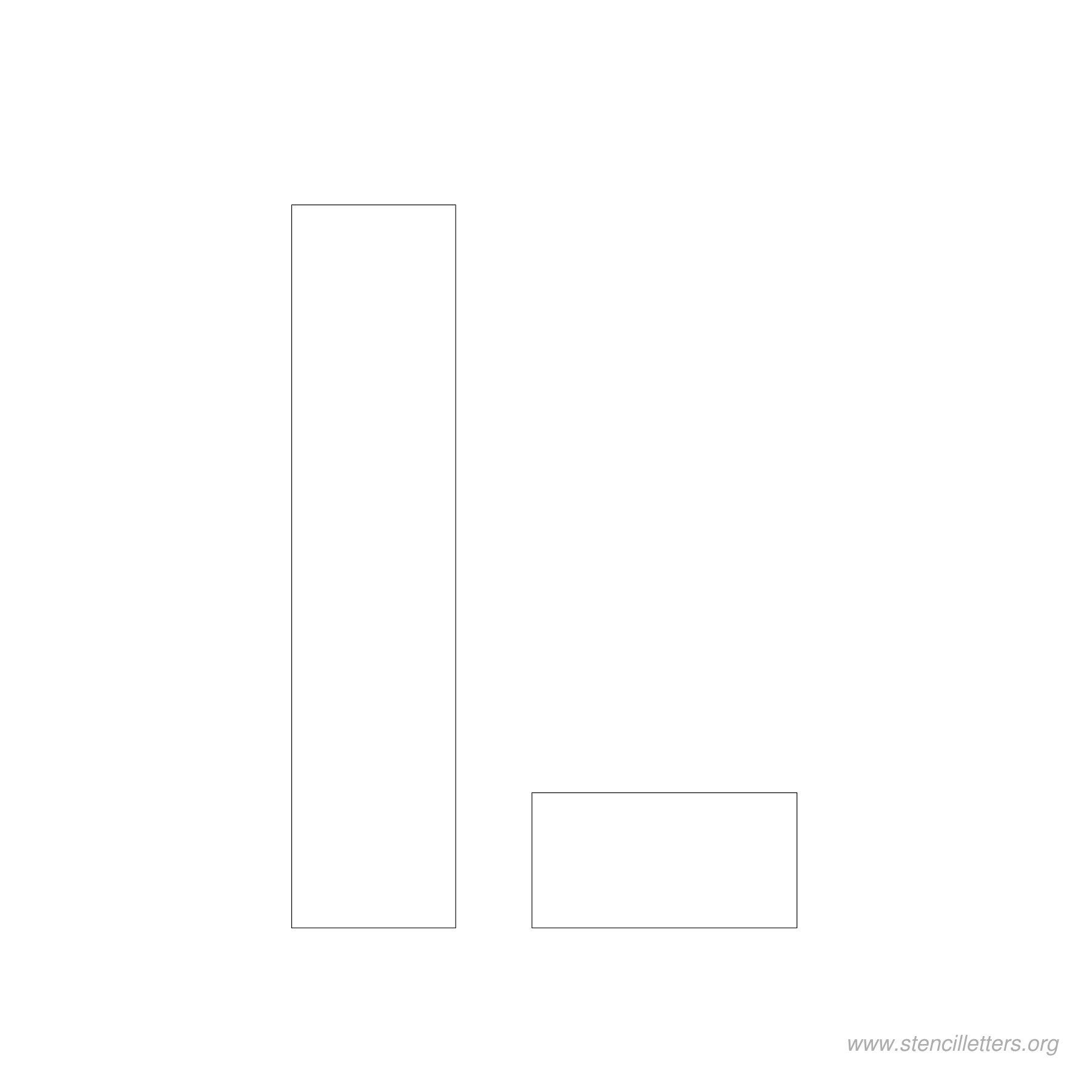 4inch-stencil-letter-l  Inch Printable Letter J Stencil Template on