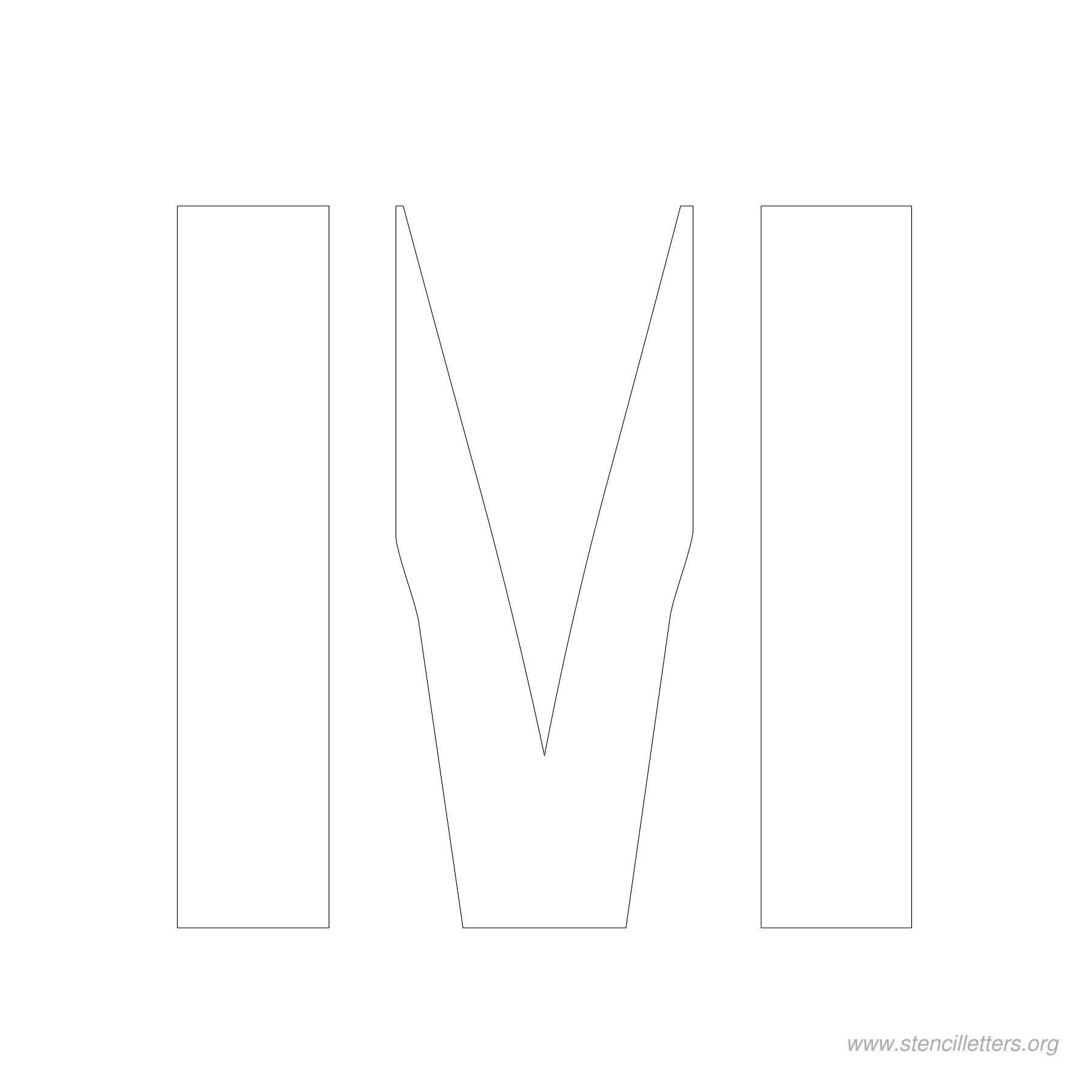 4inch-stencil-letter-m  Inch Scrabble Letters Template Downloand on