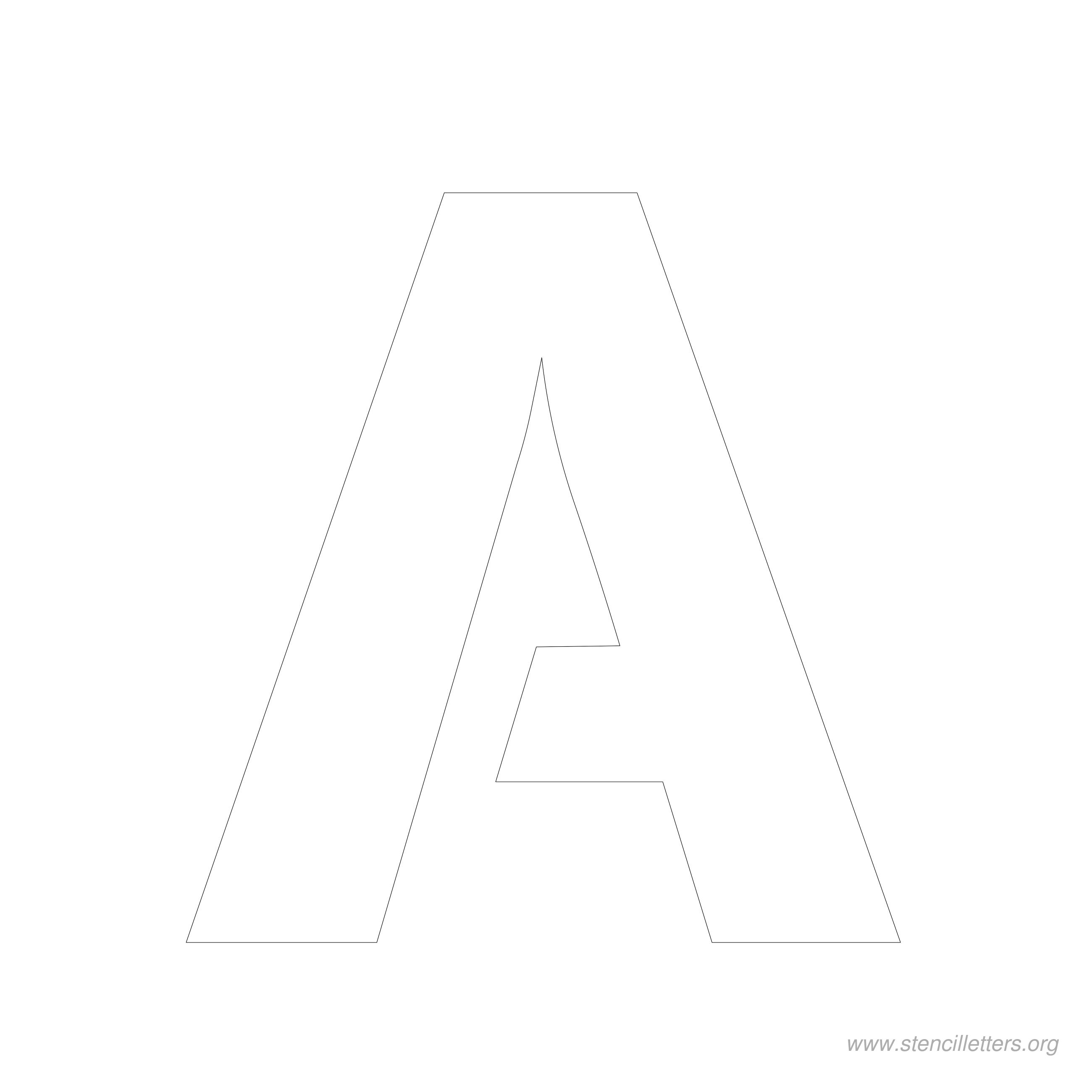 Worksheet Letter A Printable 6 inch stencil letters org letter a