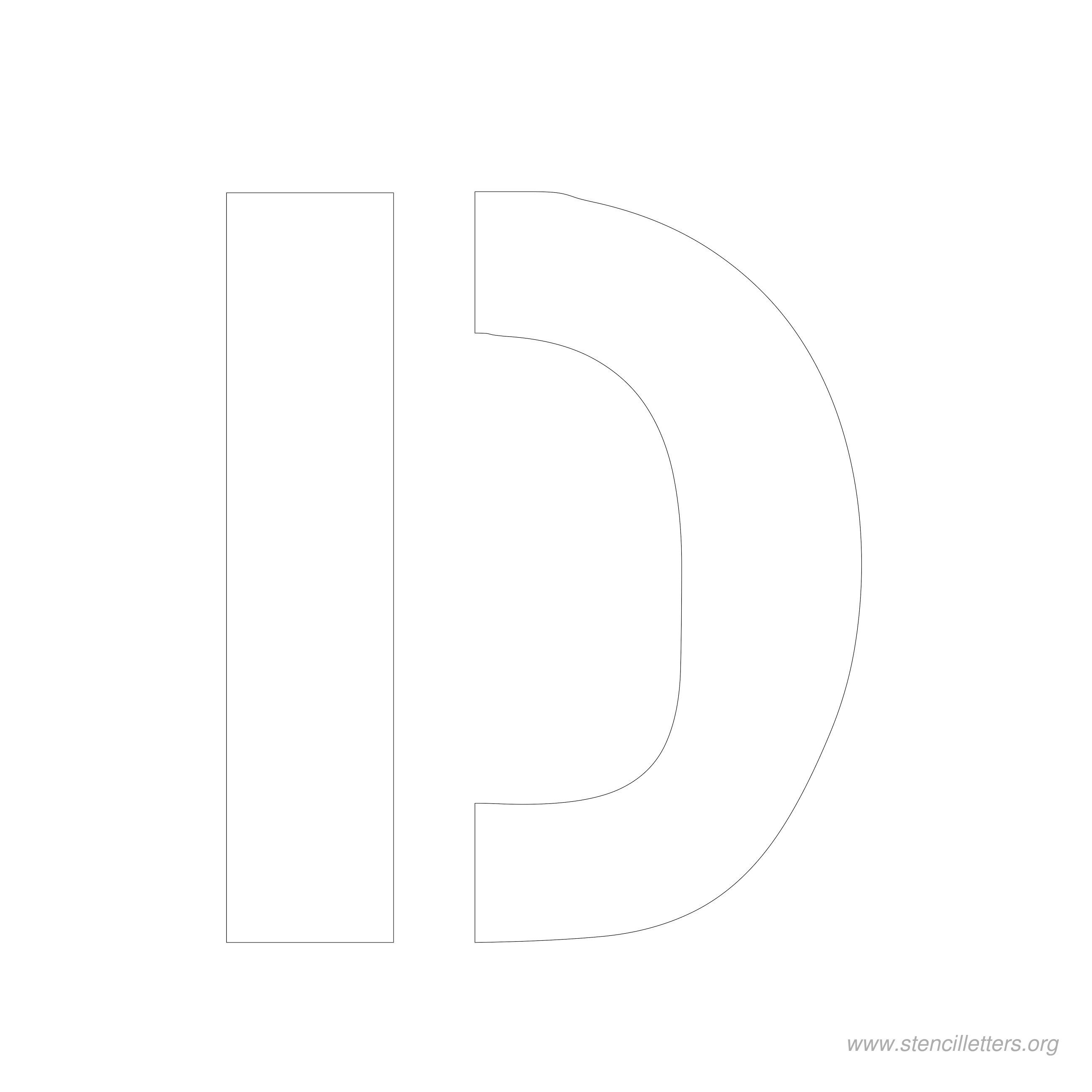 6 inch stencil letter d