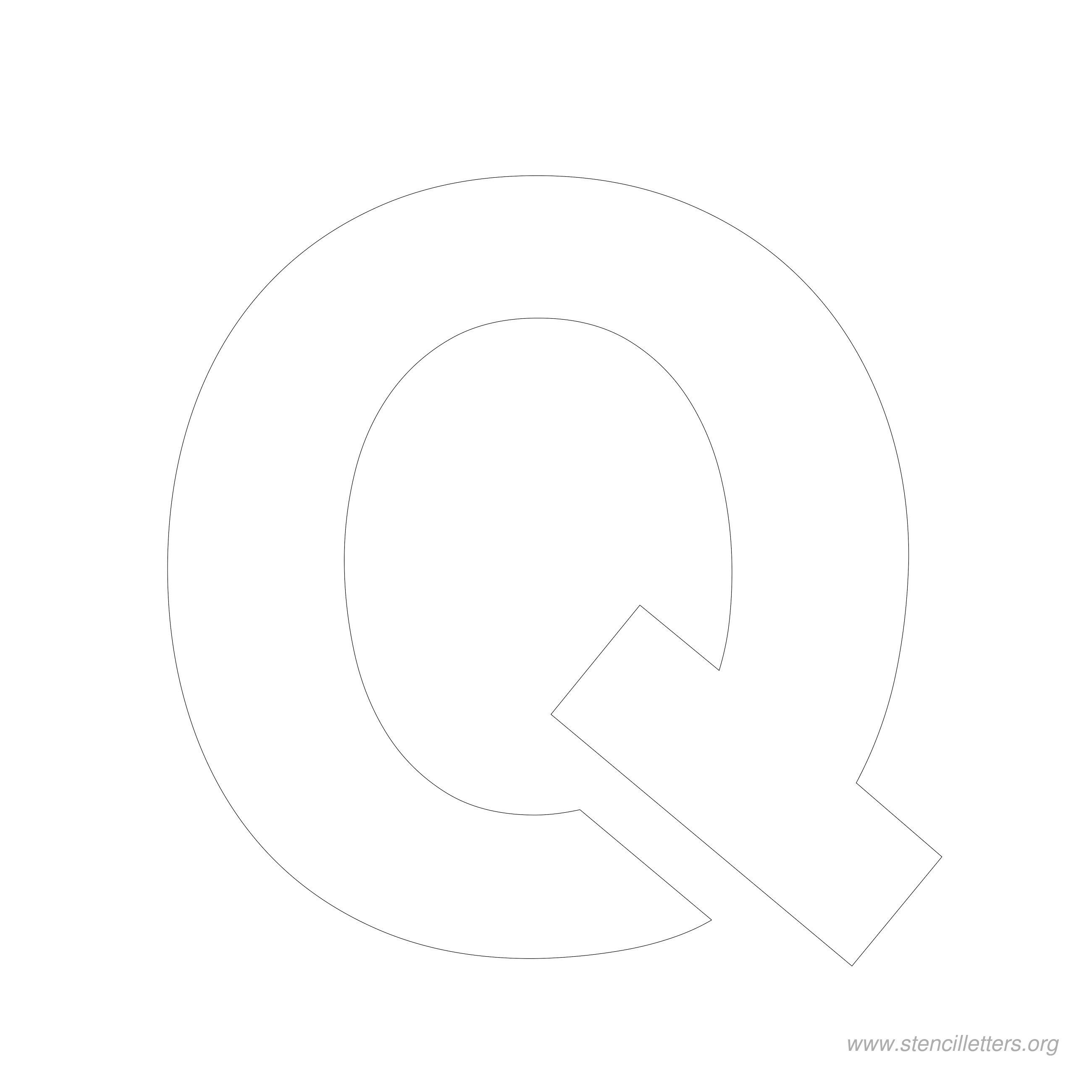 6 inch stencil letter q