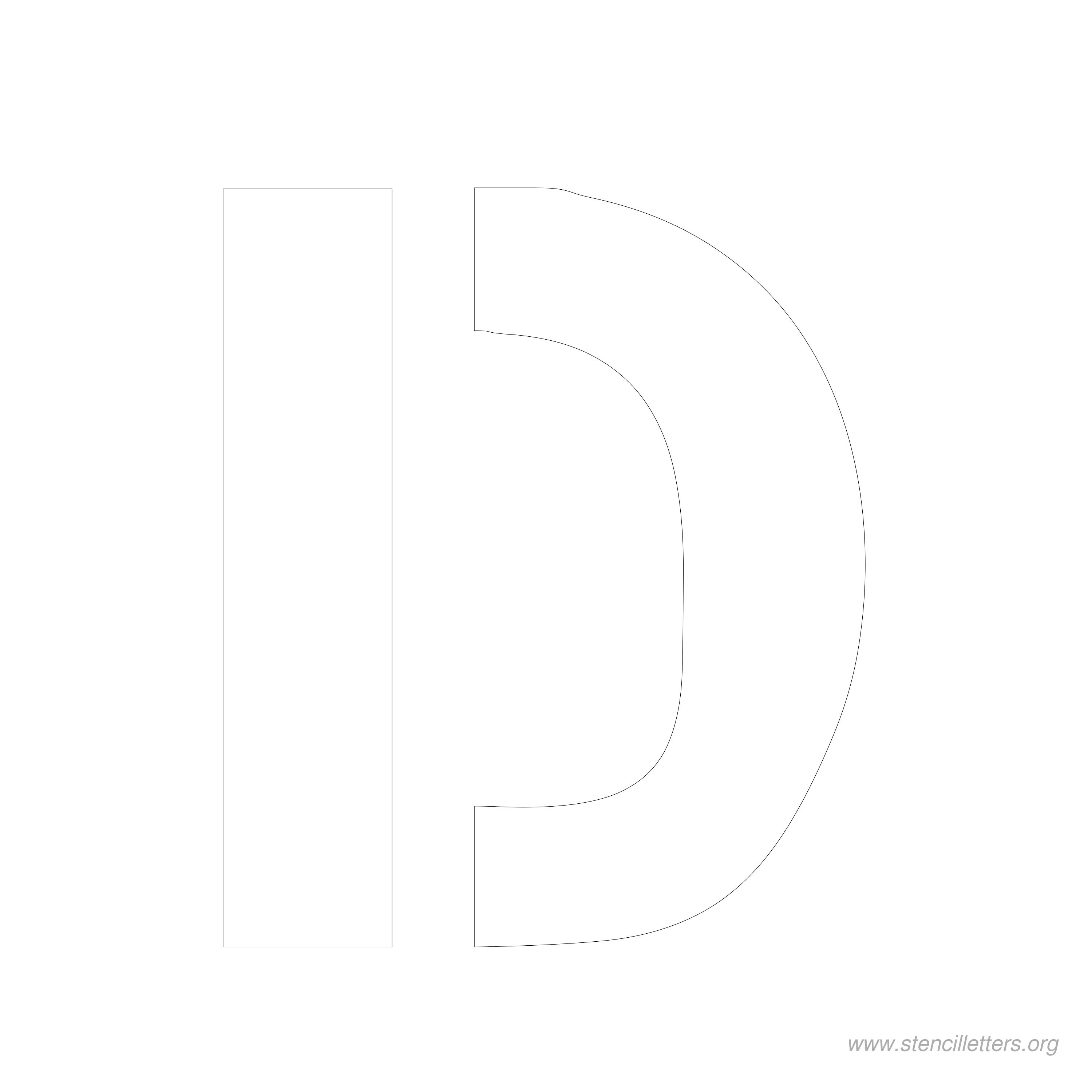 7 inch stencil letter d