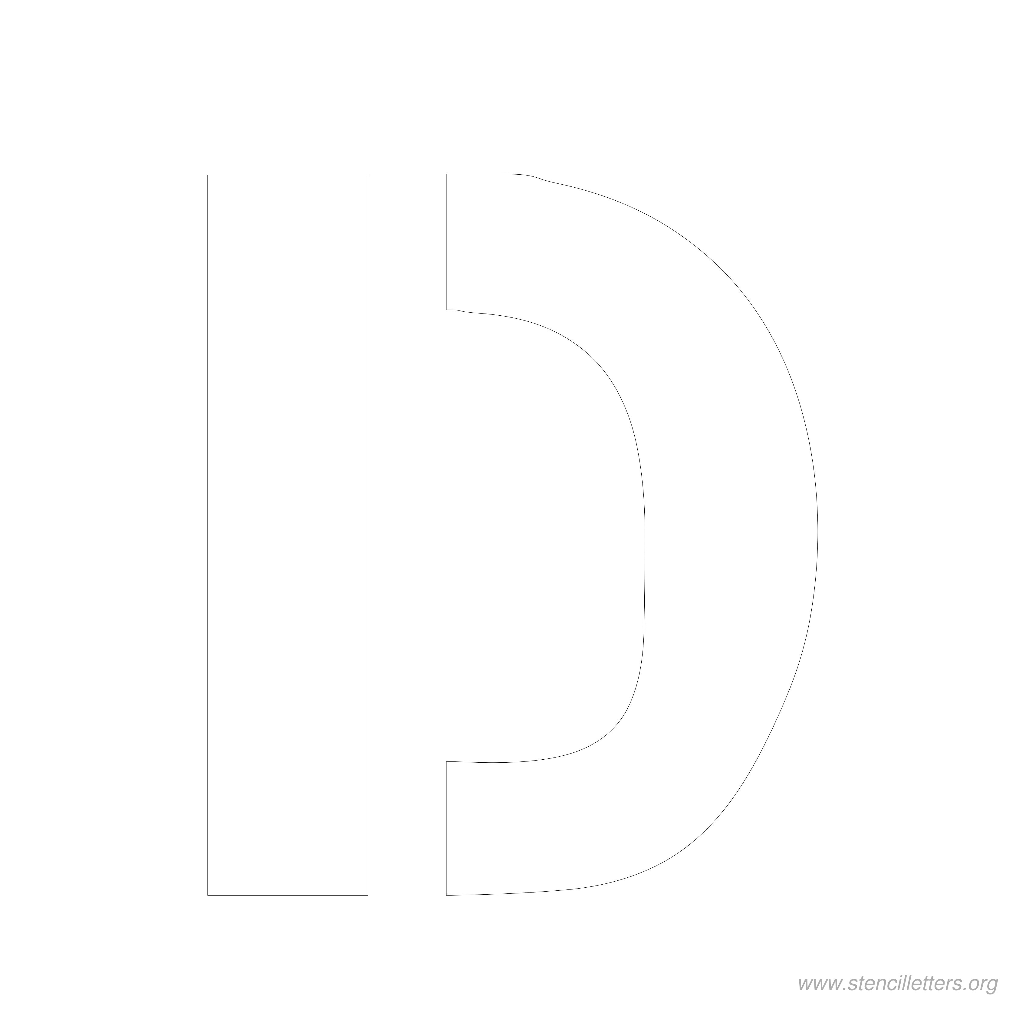 8 inch stencil letter d