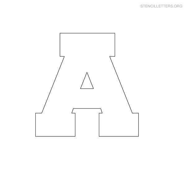 Stencil Letters A Printable Free A Stencils | Stencil Letters Org