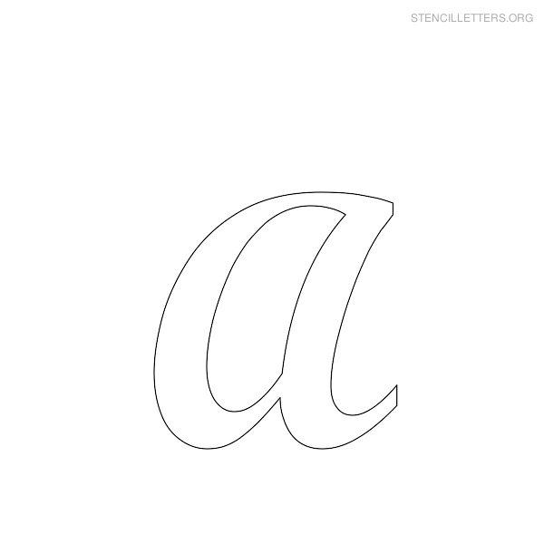 Worksheets cursive a opossumsoft worksheets and printables for Large cursive letter stencils