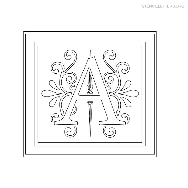 Stencil Letter Decorative A
