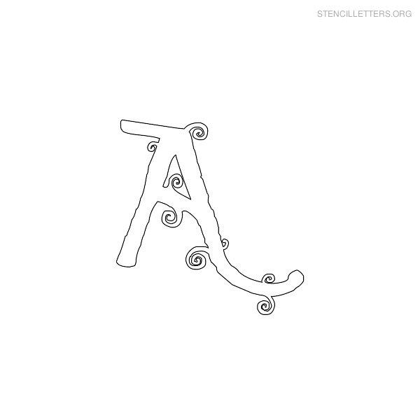 Stencil Letter Girly A