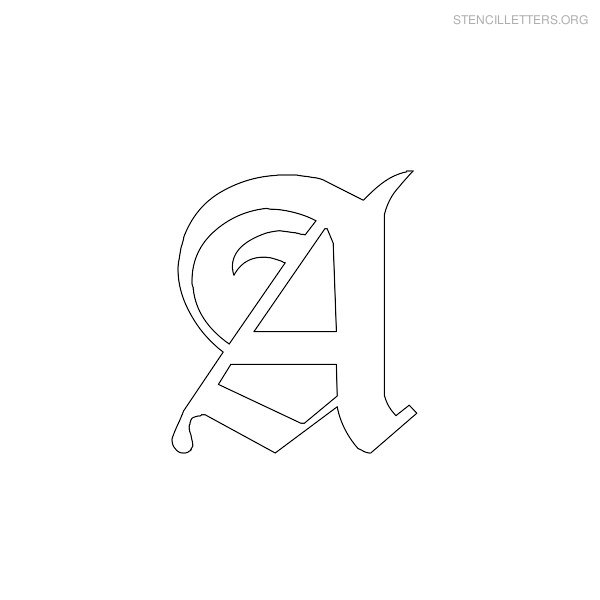 Stencil Letter Gothic A
