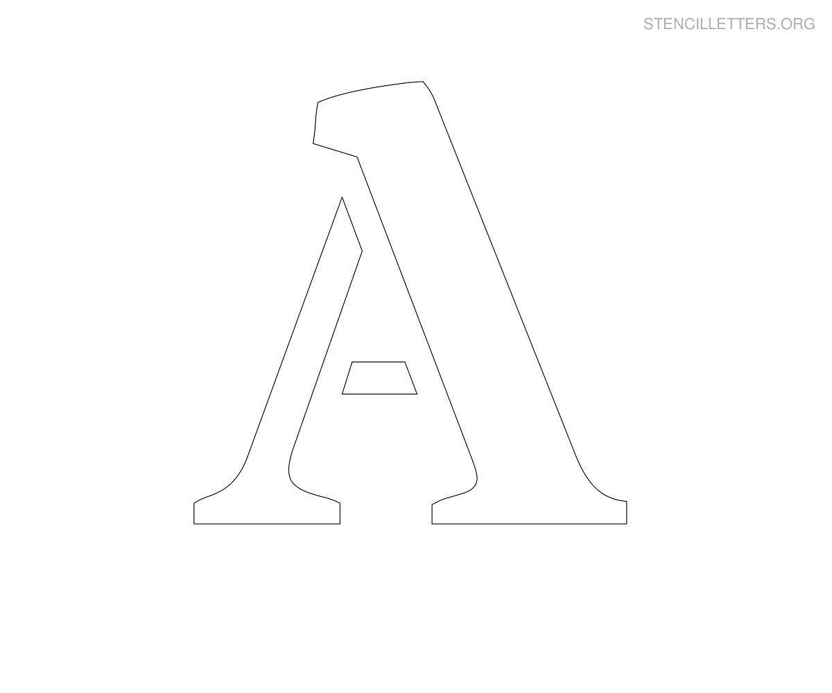 graphic relating to A Printable known as Stencil Letters A Printable Totally free A Stencils Stencil