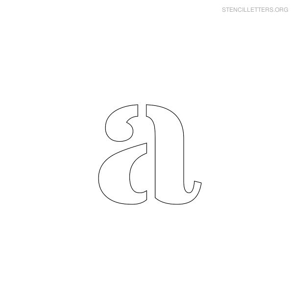 Stencil Letter Lowercase A