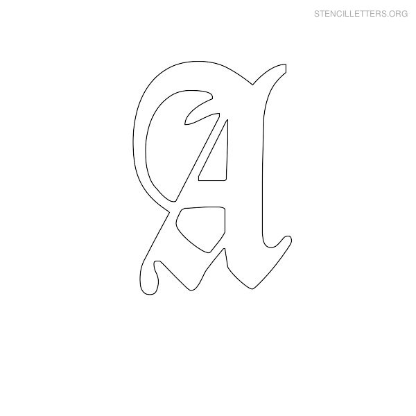Stencil Letter Old English A