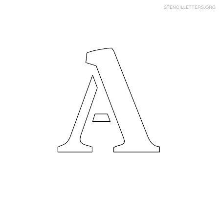 Stencil Letters A Printable Free A Stencils | Stencil Letters Org