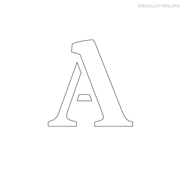 Stencil Letter Uppercase A