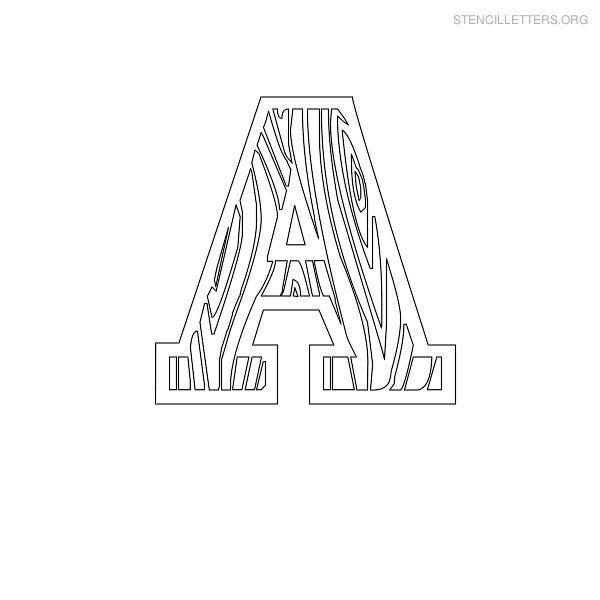 Stencil Letter Wooden A