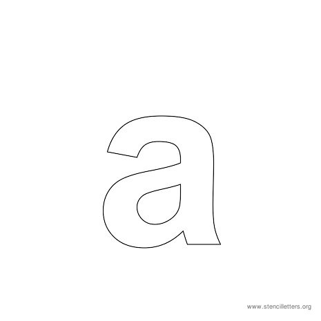 lowercase arial stencil letter a