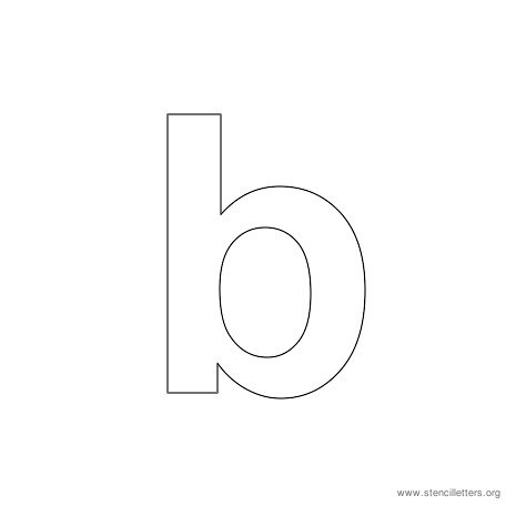 lowercase arial stencil letter b