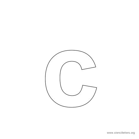 lowercase arial stencil letter c