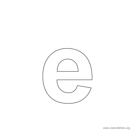 lowercase arial stencil letter e