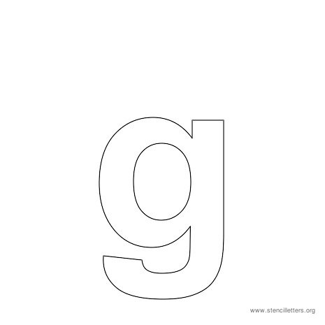 lowercase arial stencil letter g