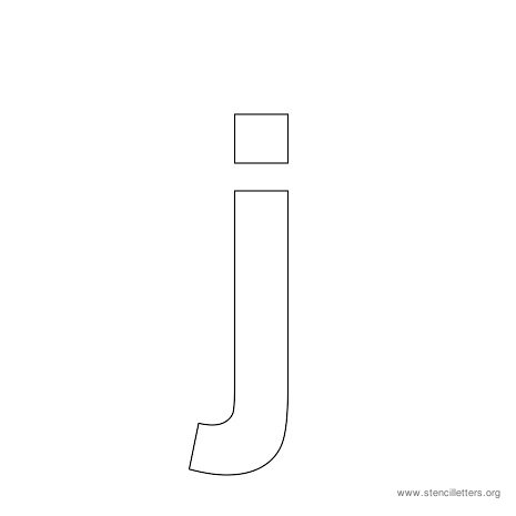 lowercase arial stencil letter j
