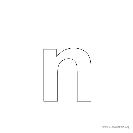 lowercase arial stencil letter n