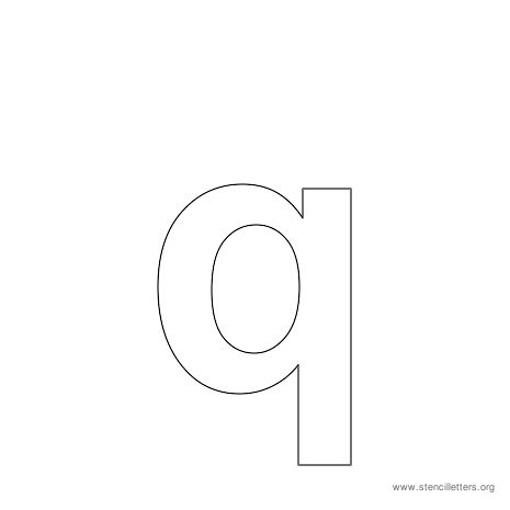 lowercase arial stencil letter q