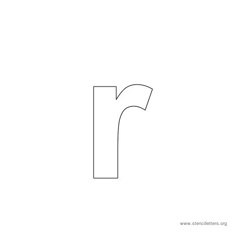 lowercase arial stencil letter r
