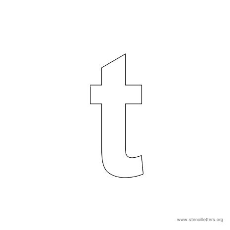 lowercase arial stencil letter t