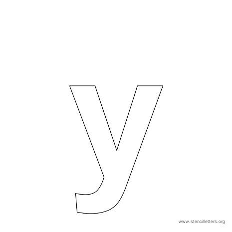 Y Alphabet Letter bubble letter lowercase y