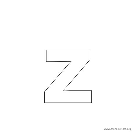 lowercase arial stencil letter z