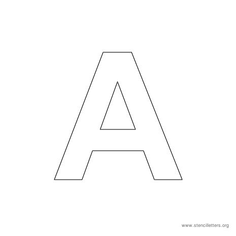 uppercase arial stencil letter a