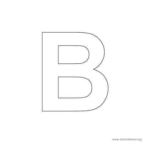uppercase arial stencil letter b