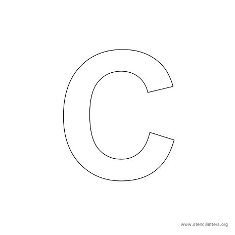 uppercase arial stencil letter c