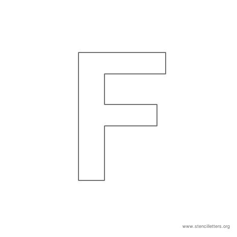 uppercase arial stencil letter f