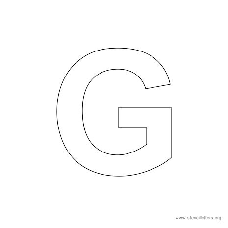 uppercase arial stencil letter g