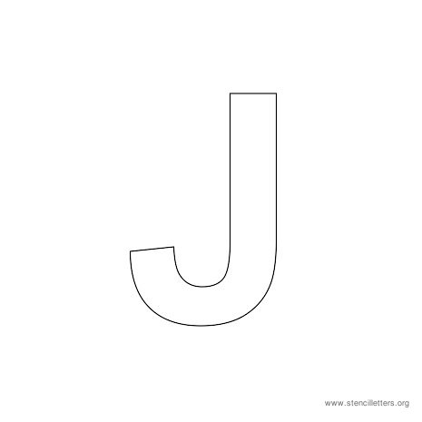 uppercase arial stencil letter j