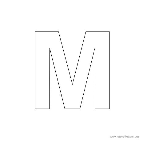 uppercase arial stencil letter m