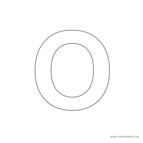 uppercase arial stencil letter o