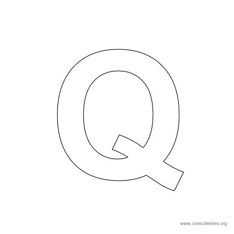 uppercase arial stencil letter q