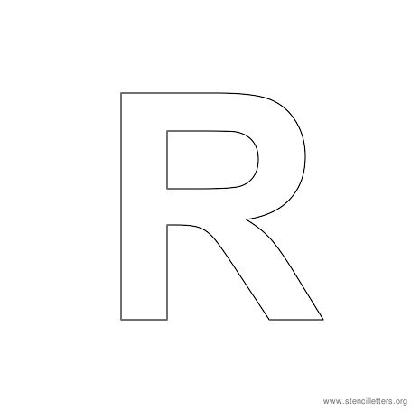 uppercase arial stencil letter r