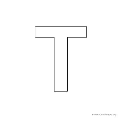uppercase arial stencil letter t