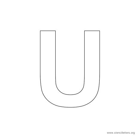uppercase arial stencil letter u