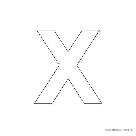 uppercase arial stencil letter x