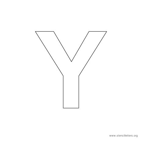 uppercase arial stencil letter y