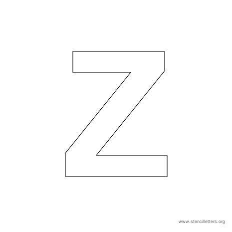 uppercase arial stencil letter z