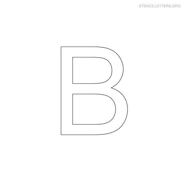 Stencil Letters B Printable Free B Stencils