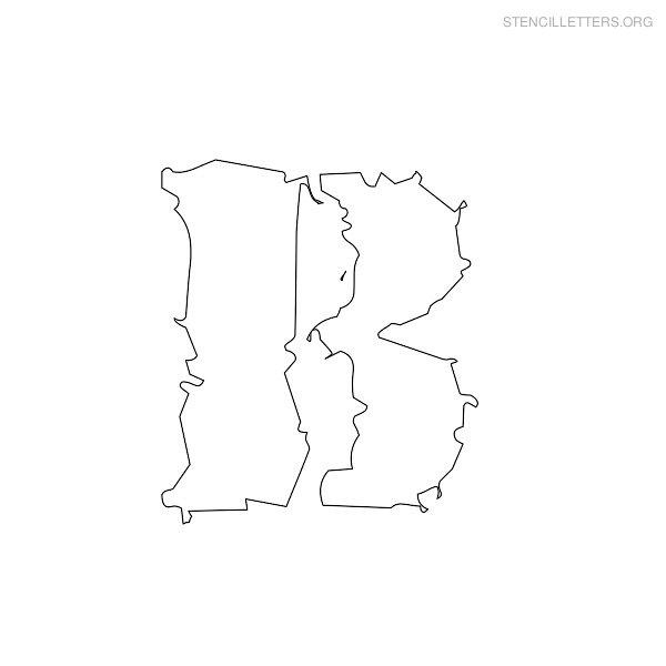 print free stencil letters b