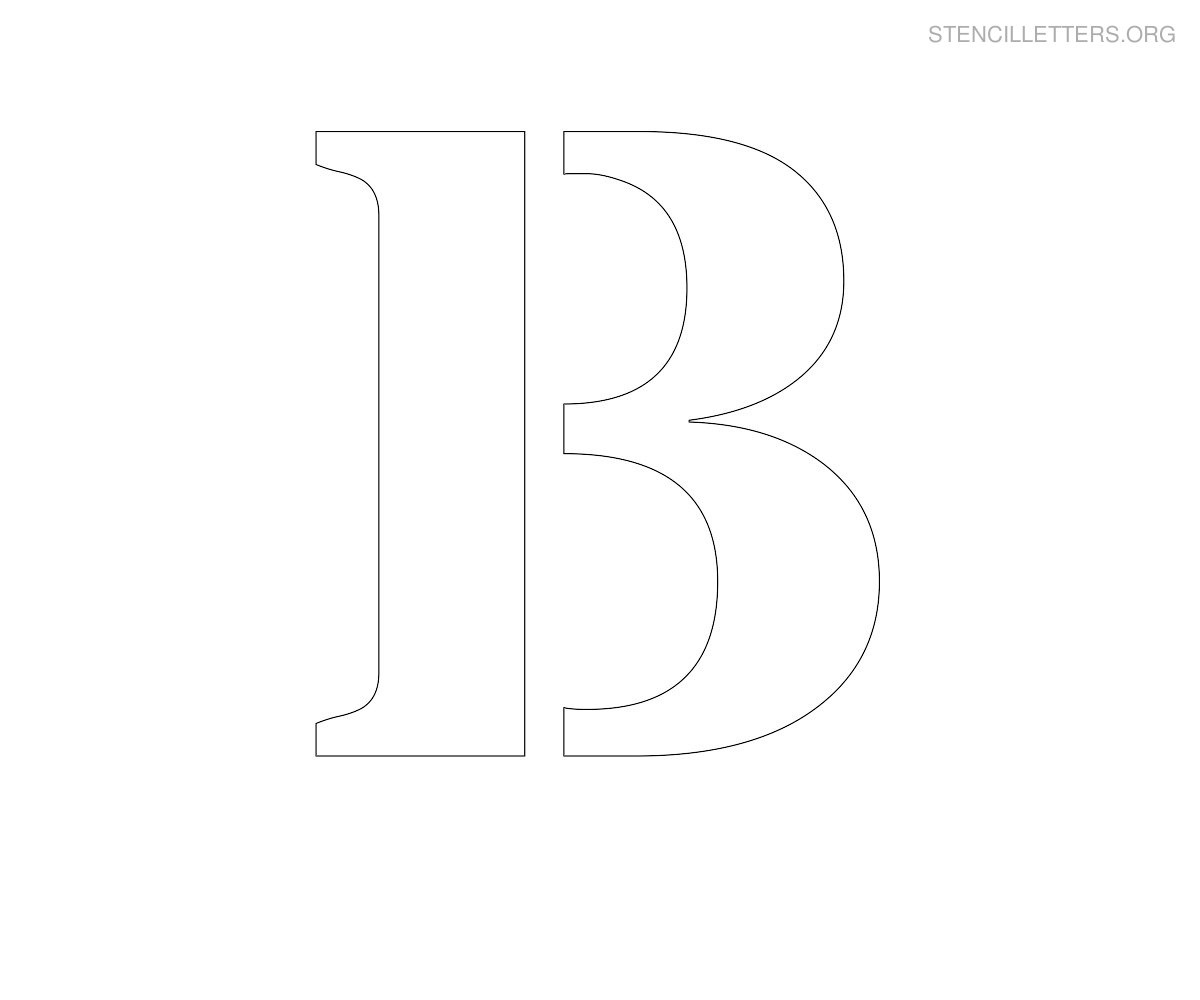 printable stencil letters printable letter b stencils how to format cover letter 12284
