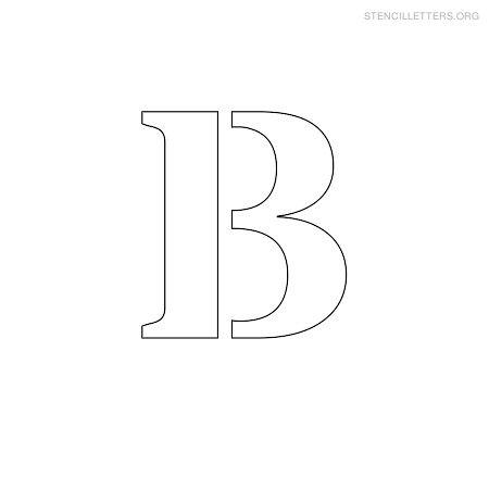 Stencil letters b printable free b stencils stencil letters org stencil letter small b pronofoot35fo Images